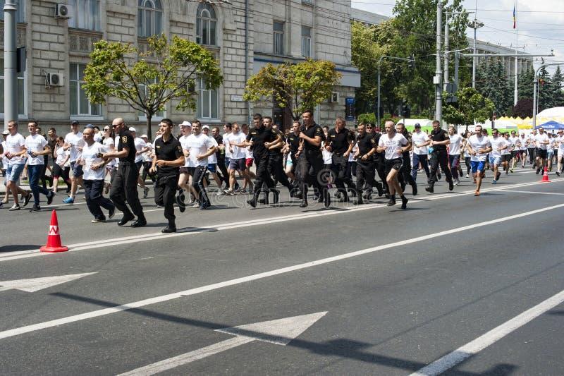 Marathon chisinau photographie stock