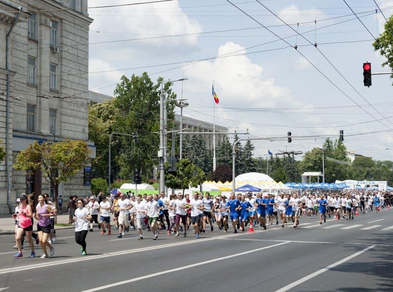 Marathon chisinau photos libres de droits