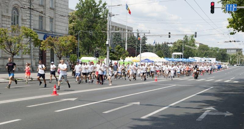 Marathon chisinau photographie stock libre de droits