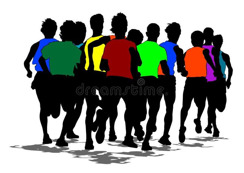 Marathon courant deux illustration libre de droits