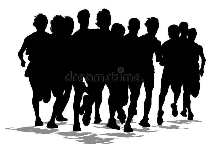 Marathon courant un illustration libre de droits