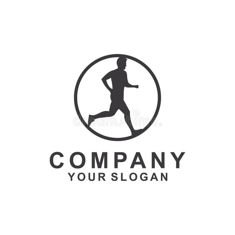marathon, course, sport, calibre de conception de logo, vecteur illustration de vecteur