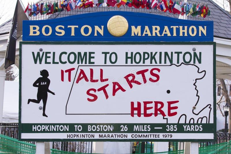 Marathon 2013 de Boston photos libres de droits