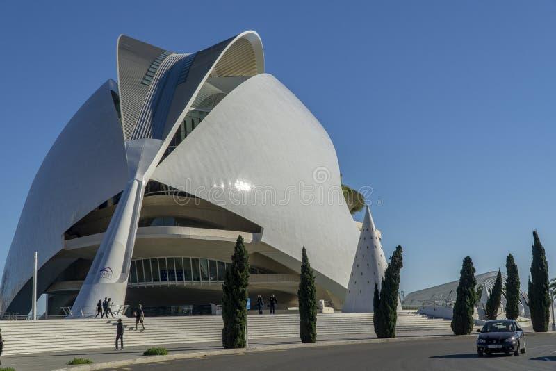 Marathon de l'Espagne Valence la ville des arts et des sciences image stock
