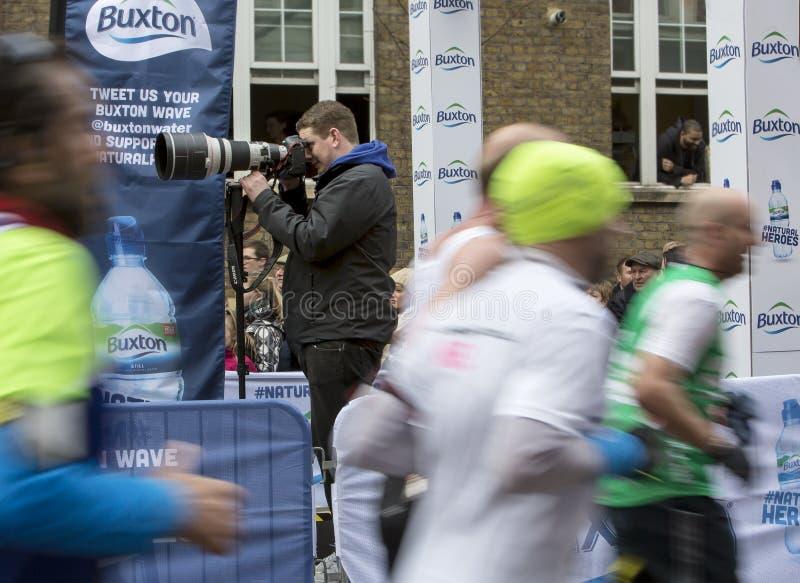 Marathon de Londres d'argent de Vierge, le 24 avril 2016 photos libres de droits