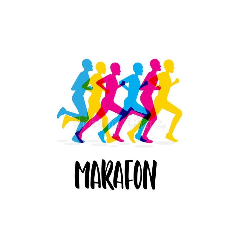 Marathon de manifestation sportive illustration de vecteur