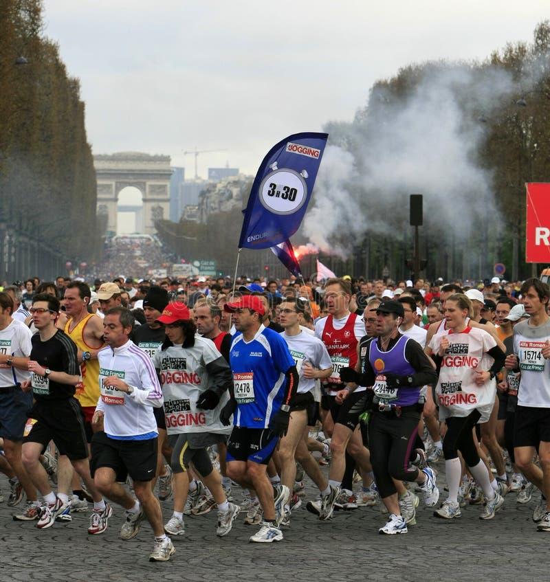 Download Marathon De Paris-Start Editorial Stock Photo - Image: 4807078