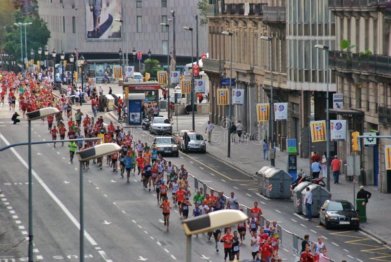 Marathon de Sporsts à Barcelone photographie stock libre de droits