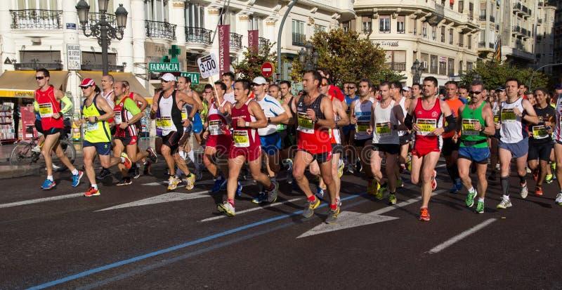 Marathon de Valence images libres de droits