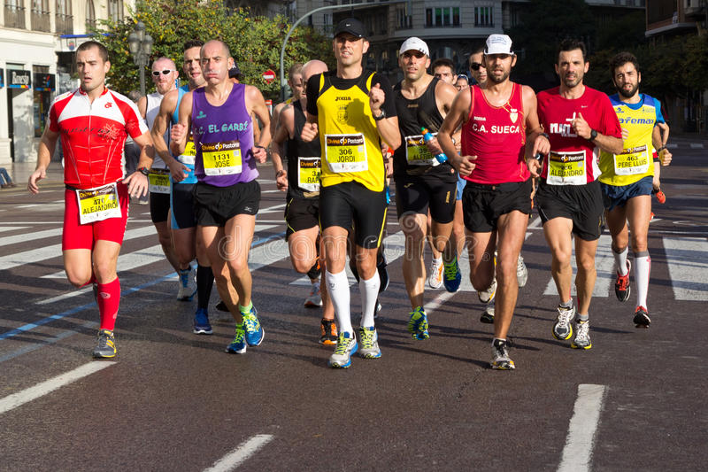 Marathon de Valence image stock