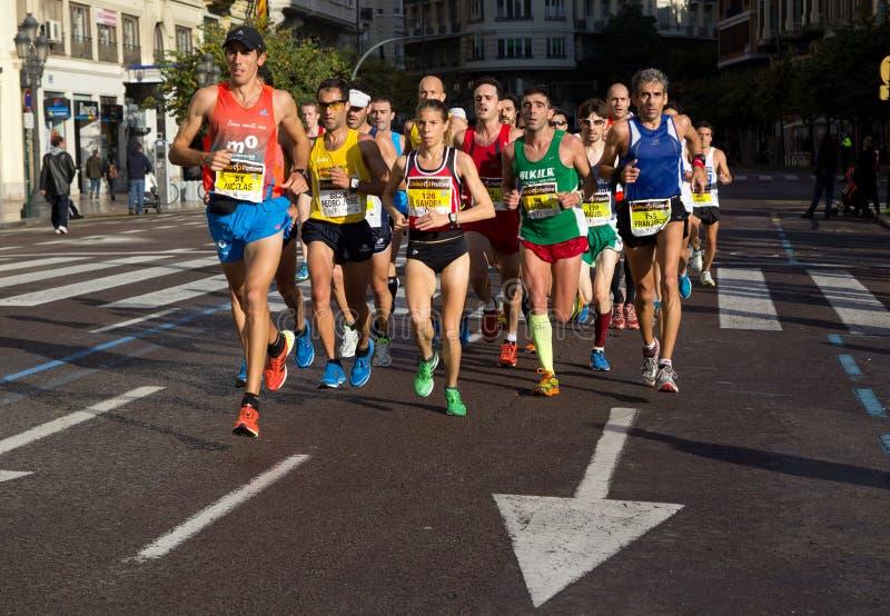 Marathon de Valence photo libre de droits