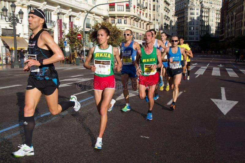Marathon de Valence photos libres de droits