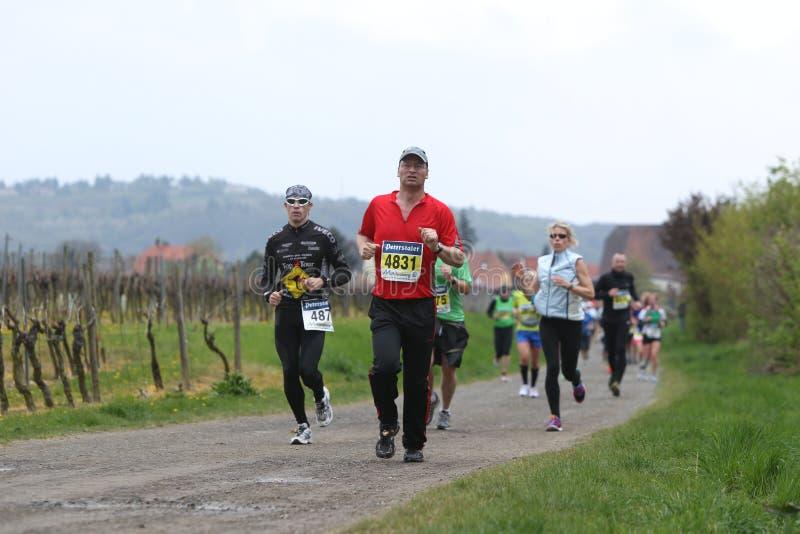 Marathon Deutsche Weinstrasse royalty free stock images