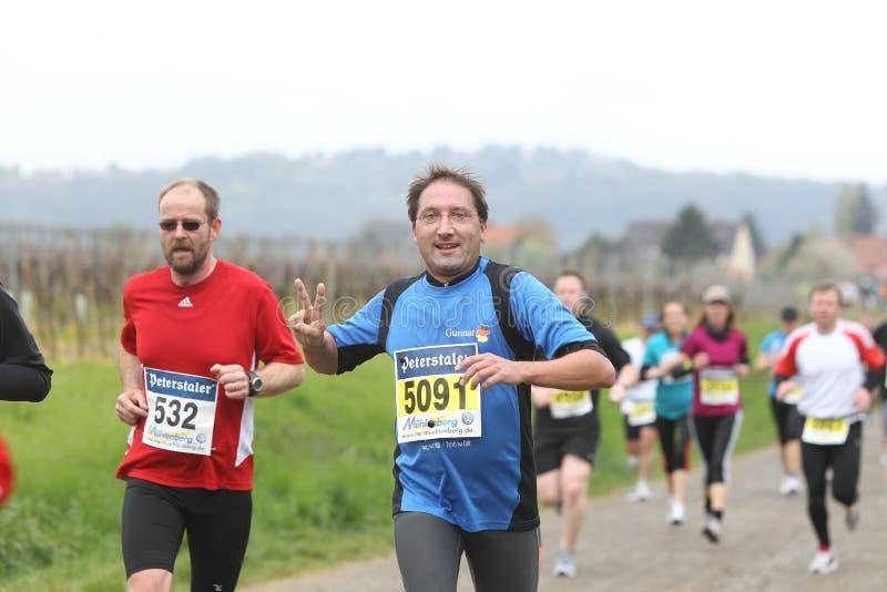 Marathon Deutsche Weinstrasse royalty free stock photography