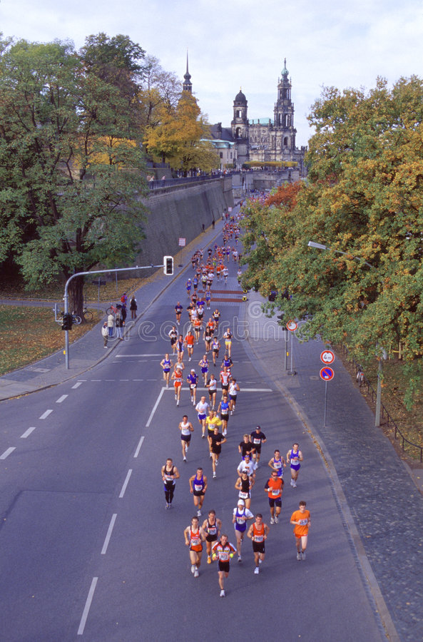 Marathon in Dresden - Germany royalty free stock photos