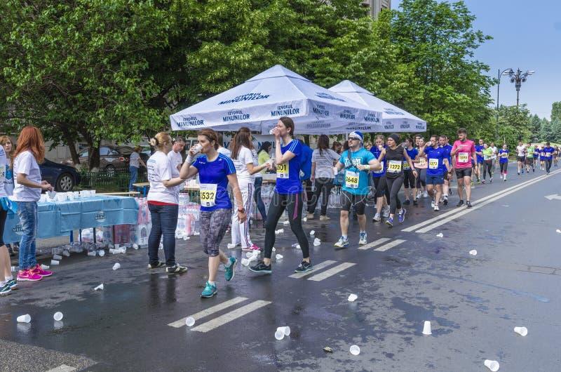 Marathon international de Bucarest demi photo libre de droits