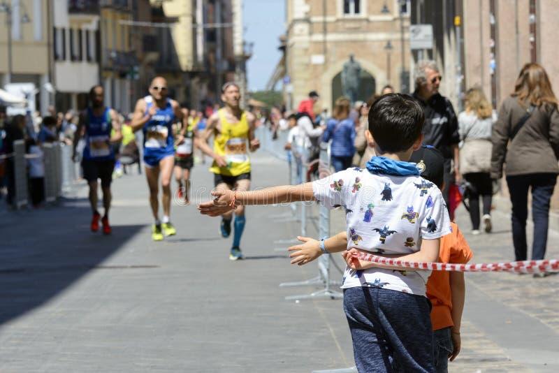 Marathon 2017, Italie de Rimini photos stock