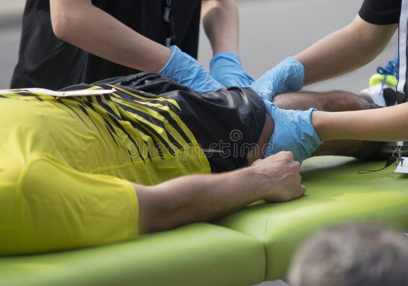 Marathon mischt Massage mit lizenzfreies stockbild