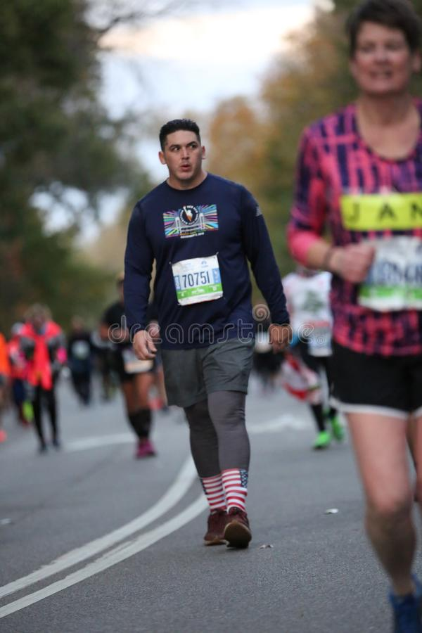 Marathon NYC 2019 sport event in Central Park stock image