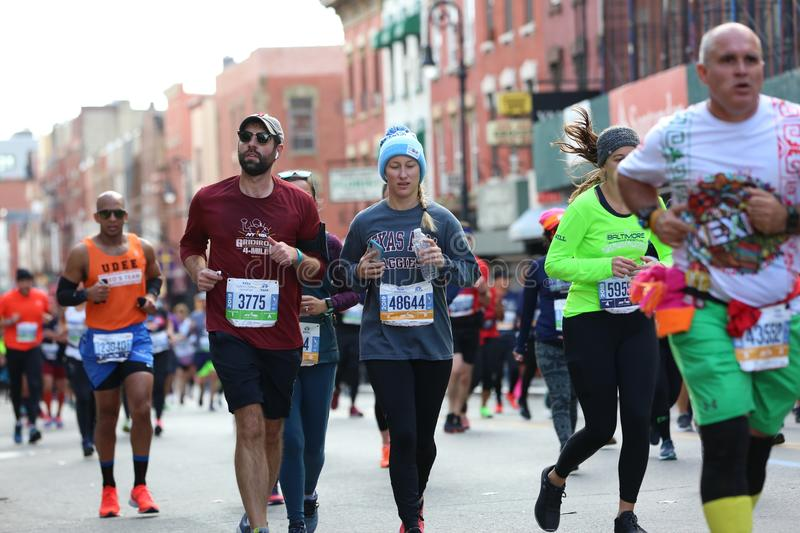 Marathon NYC 2019 sport event in Central Park royalty free stock photos