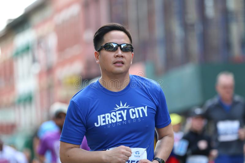 Marathon NYC 2019 sport event in Central Park royalty free stock image