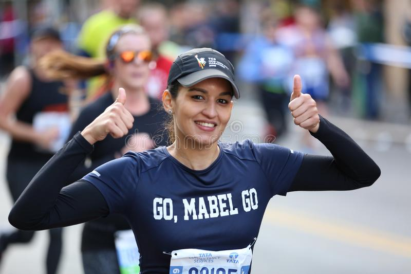 Marathon NYC 2019 sport event in Central Park stock photos