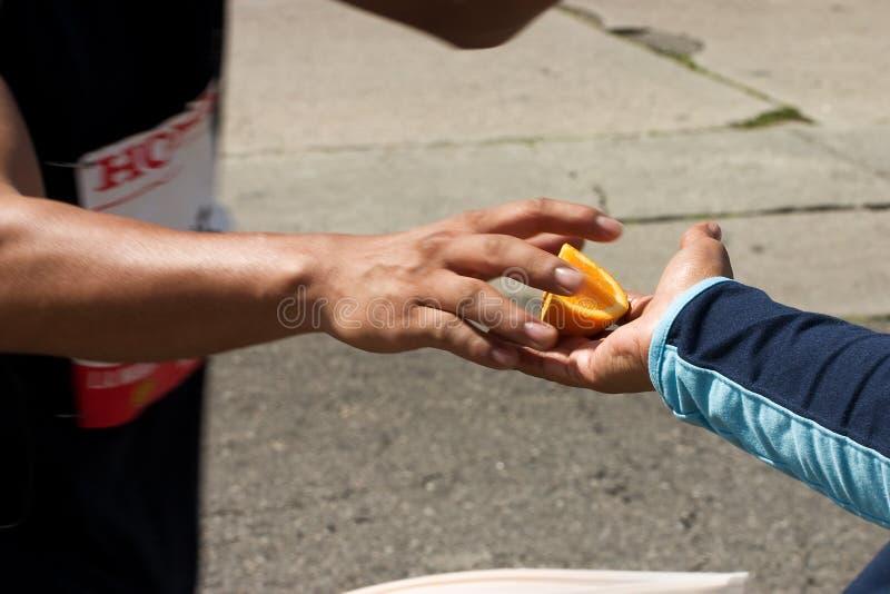 Marathon-Orange lizenzfreie stockfotografie