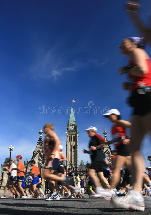 Download Marathon and Peace Tower editorial image. Image of blur - 5267010