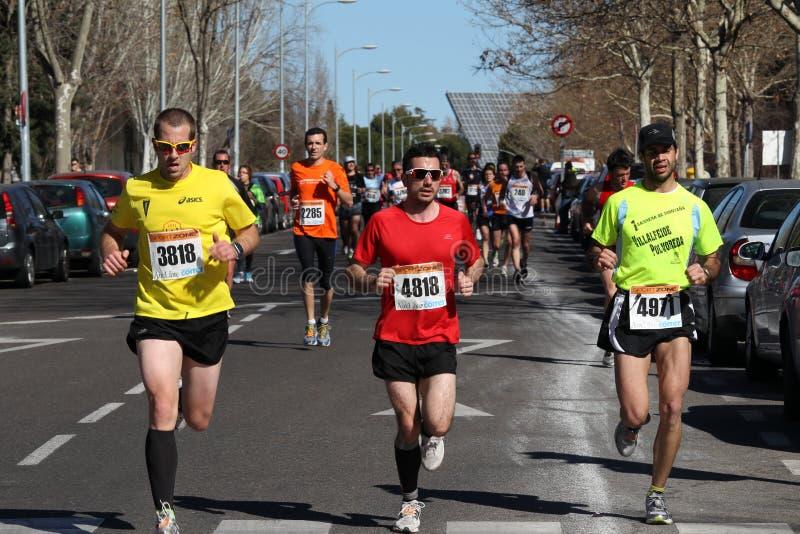 Marathon racers royalty free stock photography