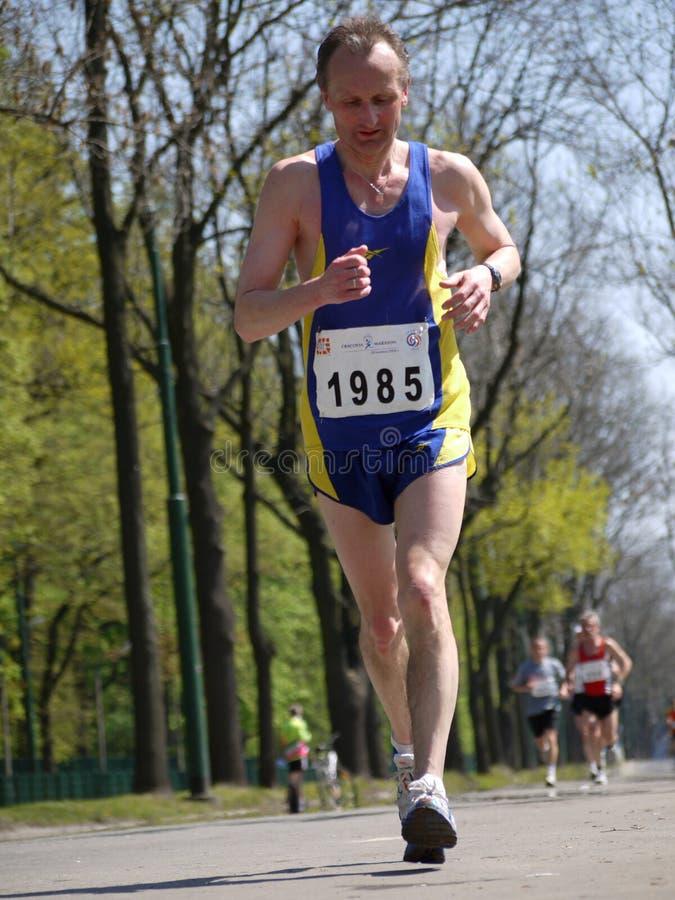 Marathon-Rennläufer stockfotografie