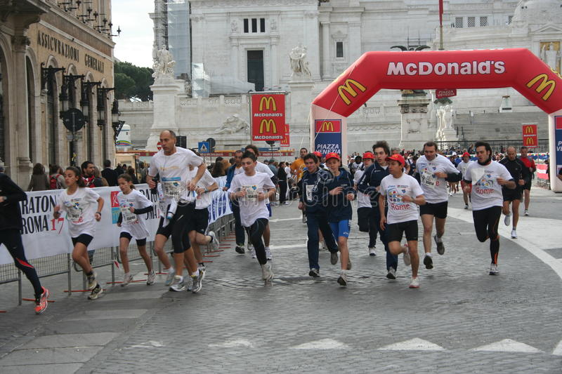 Marathon of rome 2011 stock image