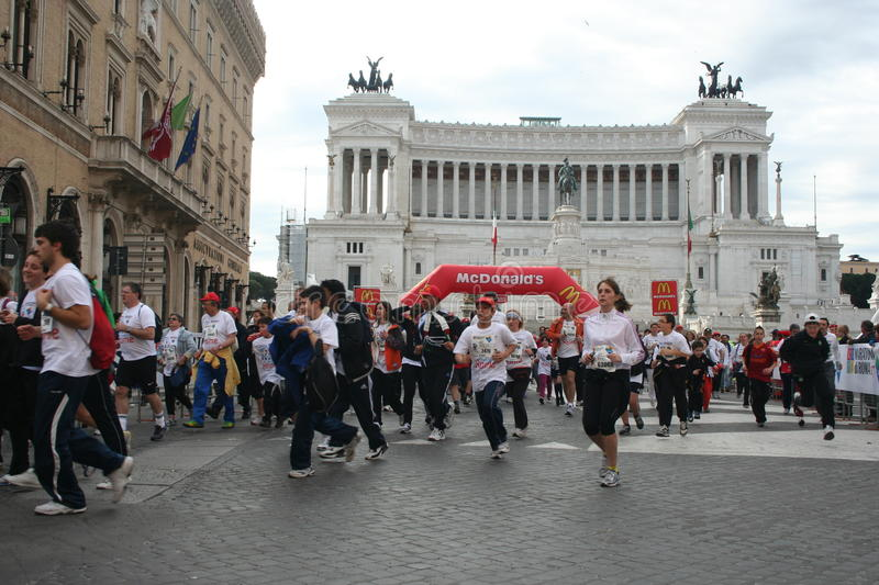 Marathon of rome 2011 royalty free stock images