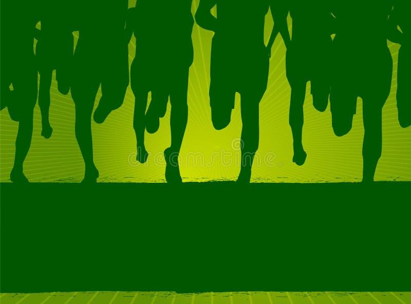 Marathon Run stock illustration
