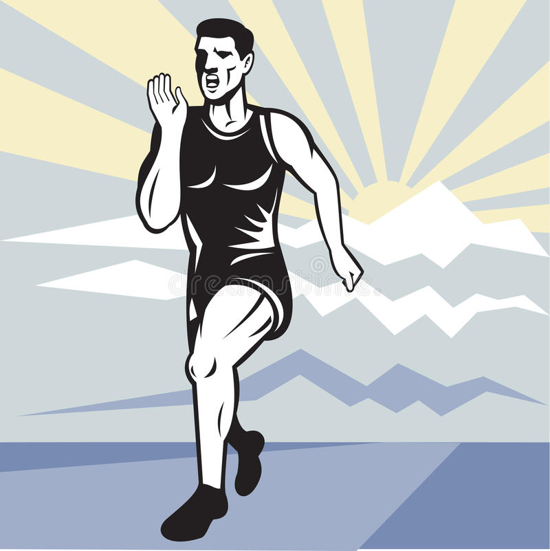 Download Marathon Runner Jogger Fitness Running Front Stock Illustration - Illustration of athlete, square: 21209639
