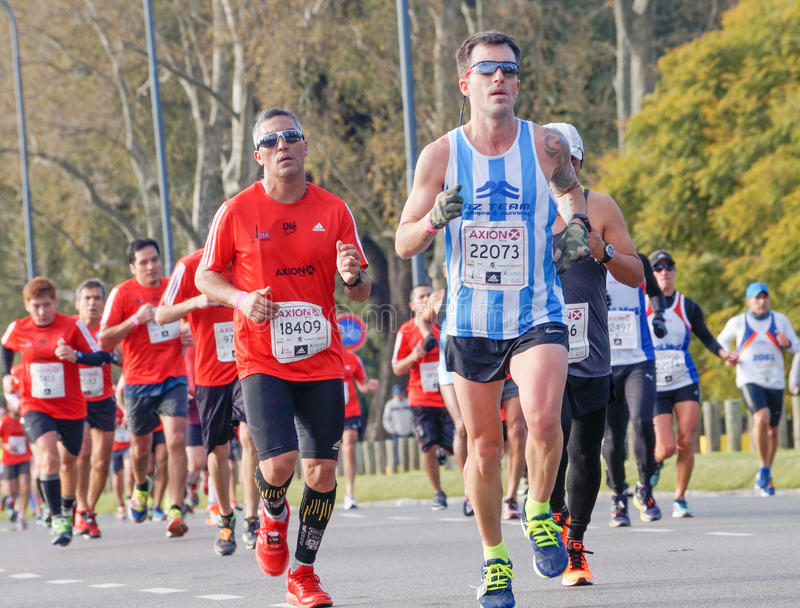 Marathon Runner royalty free stock image