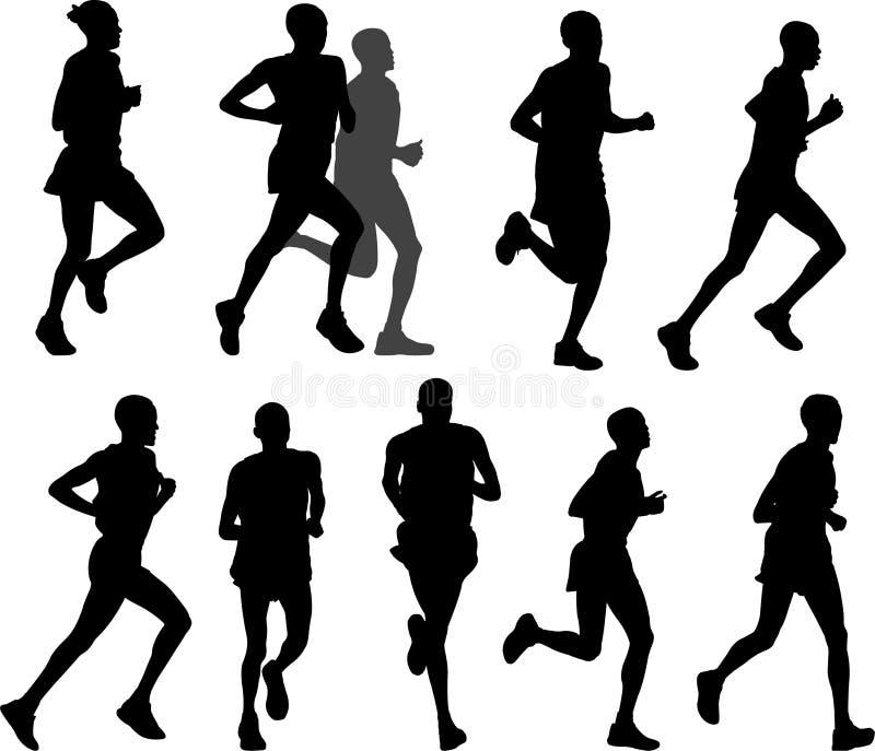 Download Marathon runners stock vector. Image of discipline, runner - 19322251