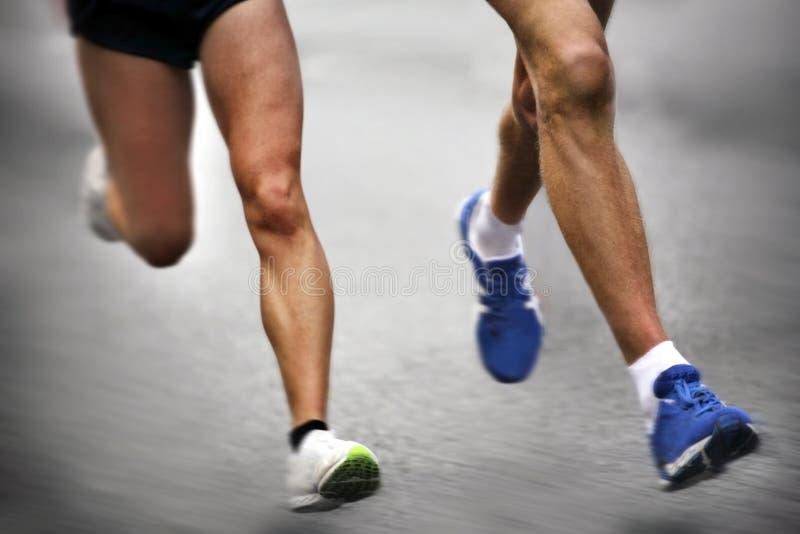 Marathon runners stock photography