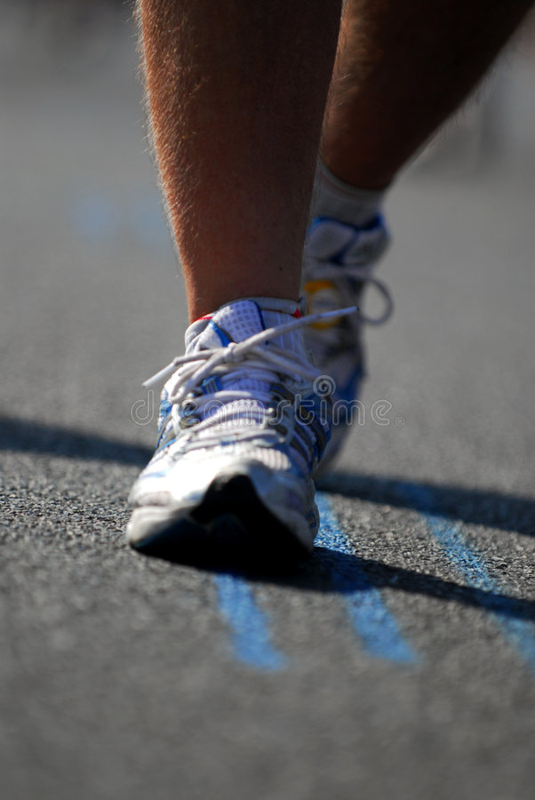 Marathon runners 5 royalty free stock photos