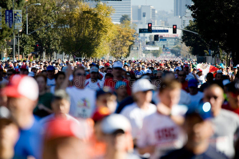 Download Marathon Runners Royalty Free Stock Photos - Image: 700528