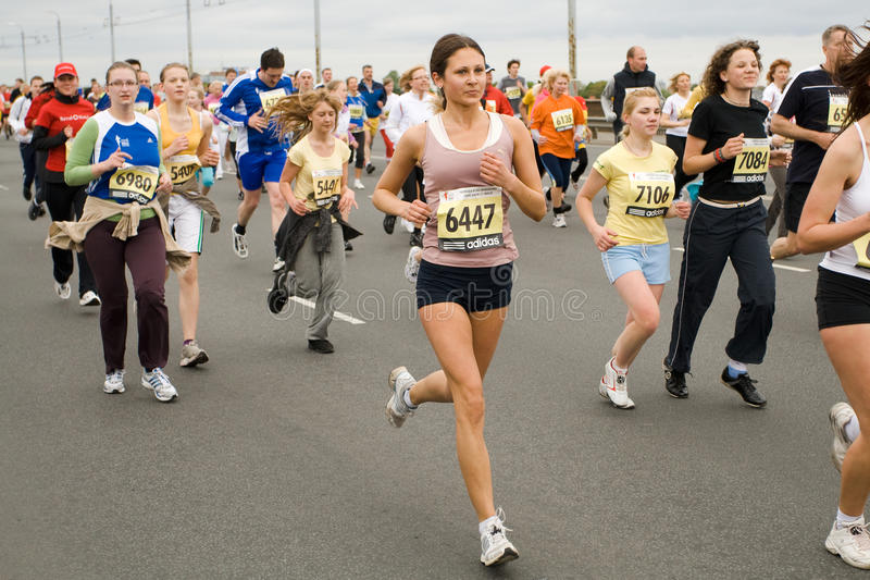 Download Marathon runners editorial stock photo. Image of moving - 9406893