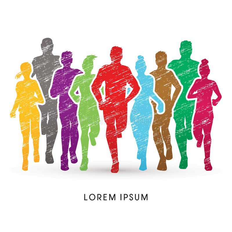 Free Marathon Runners Graphic Royalty Free Stock Images - 87711119