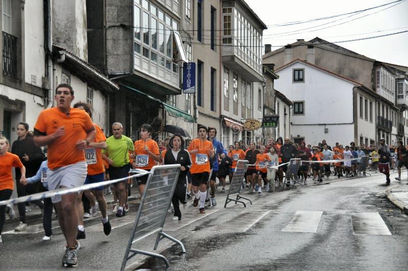 Marathon in Santiago de Compostela, Spanje stock fotografie