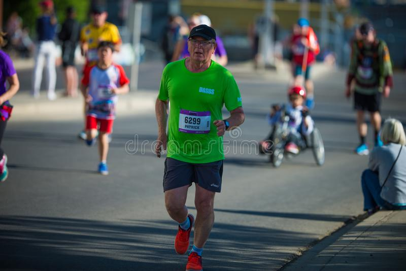 Marathon ScotiaBank 2018 de Calgary photo stock