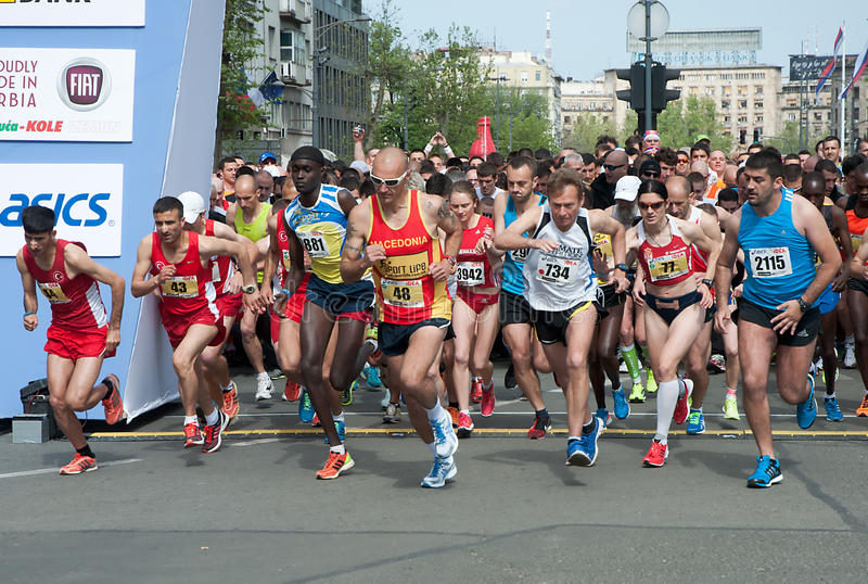 Download Marathon start editorial stock image. Image of serbia - 40167139