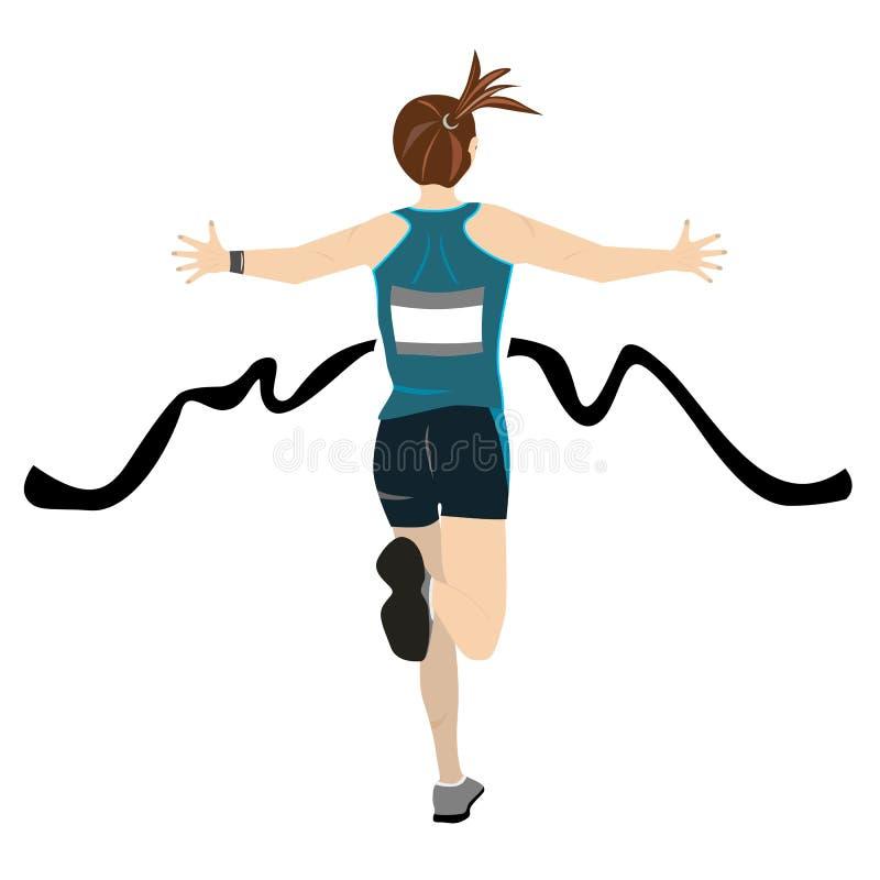Marathon winner stock illustration