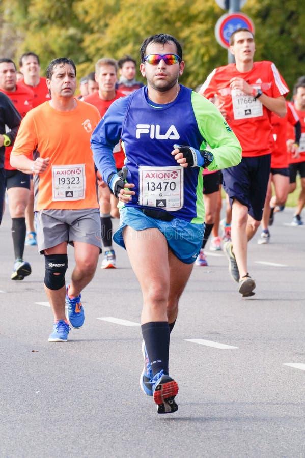 Marathonagent stock afbeeldingen