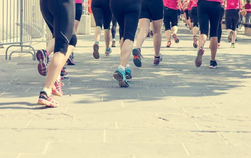 Marathonagenten het concurreren stock afbeeldingen