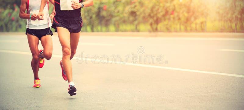 Marathonagenten het lopen royalty-vrije stock foto