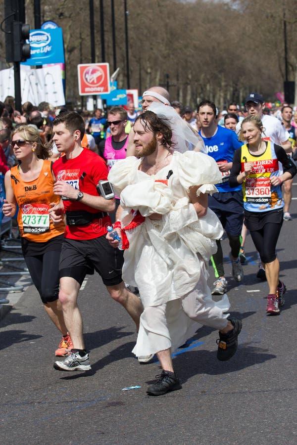 Marathoniens image libre de droits