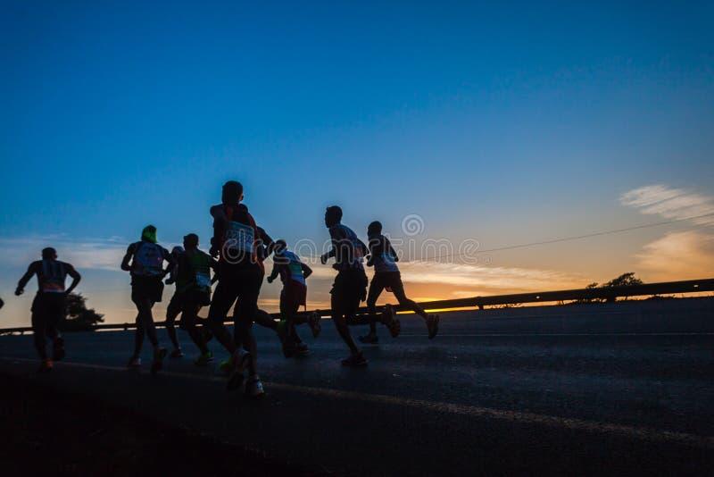 Marathoniens Dawn Colors Sunrise image stock